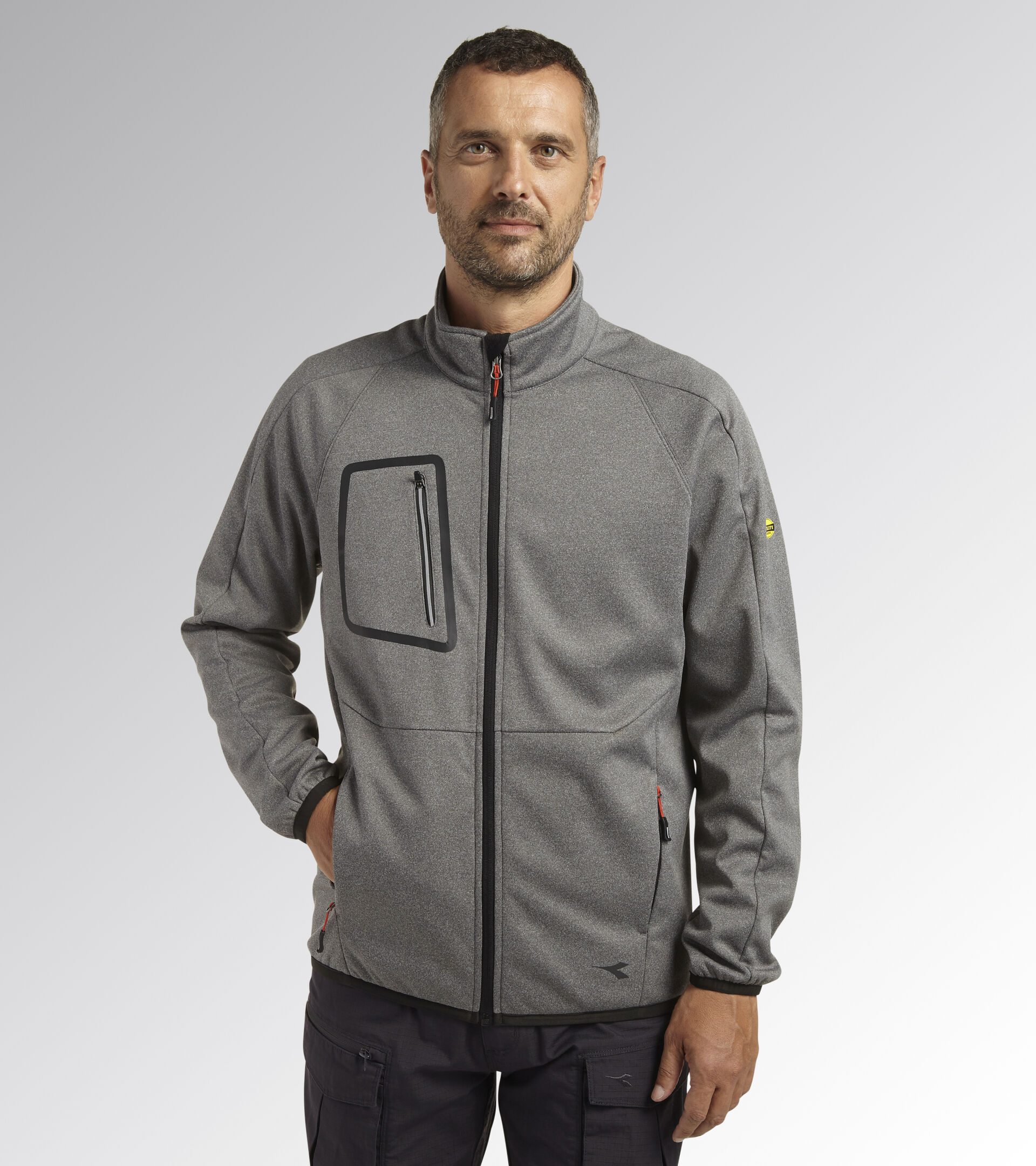 Work jacket BONDED JACKET CROSS STEEL GRAY MELANGE - Utility