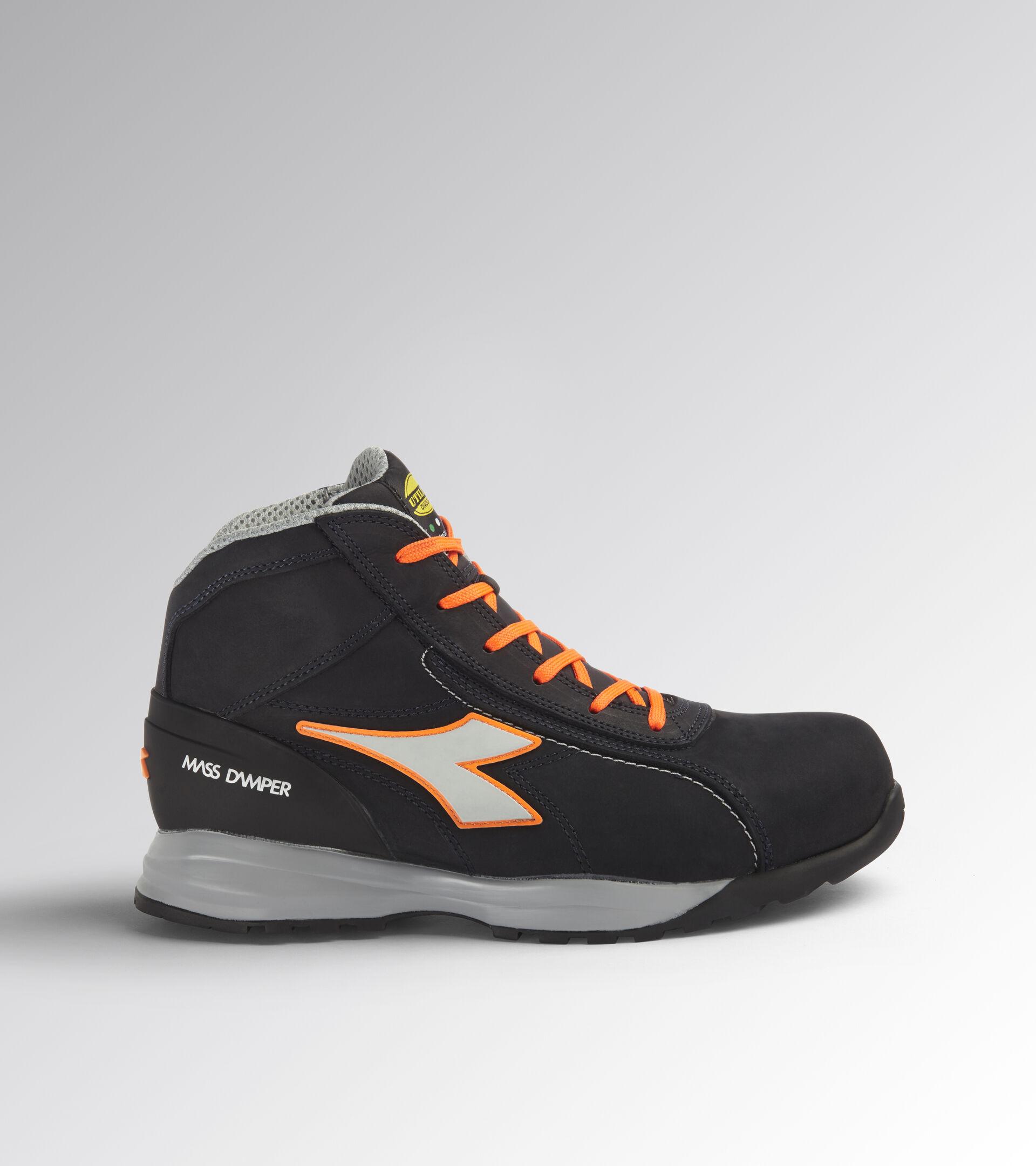 Footwear Utility UNISEX GLOVE MDS MID S3 HRO SRC DARK NAVY/ORANGE FLUO Utility