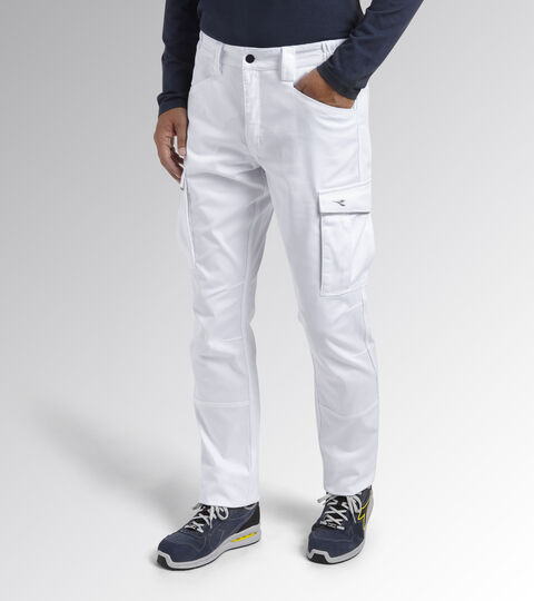 Work trousers PANT STAFF STRETCH CARGO OPTICAL WHITE - Utility
