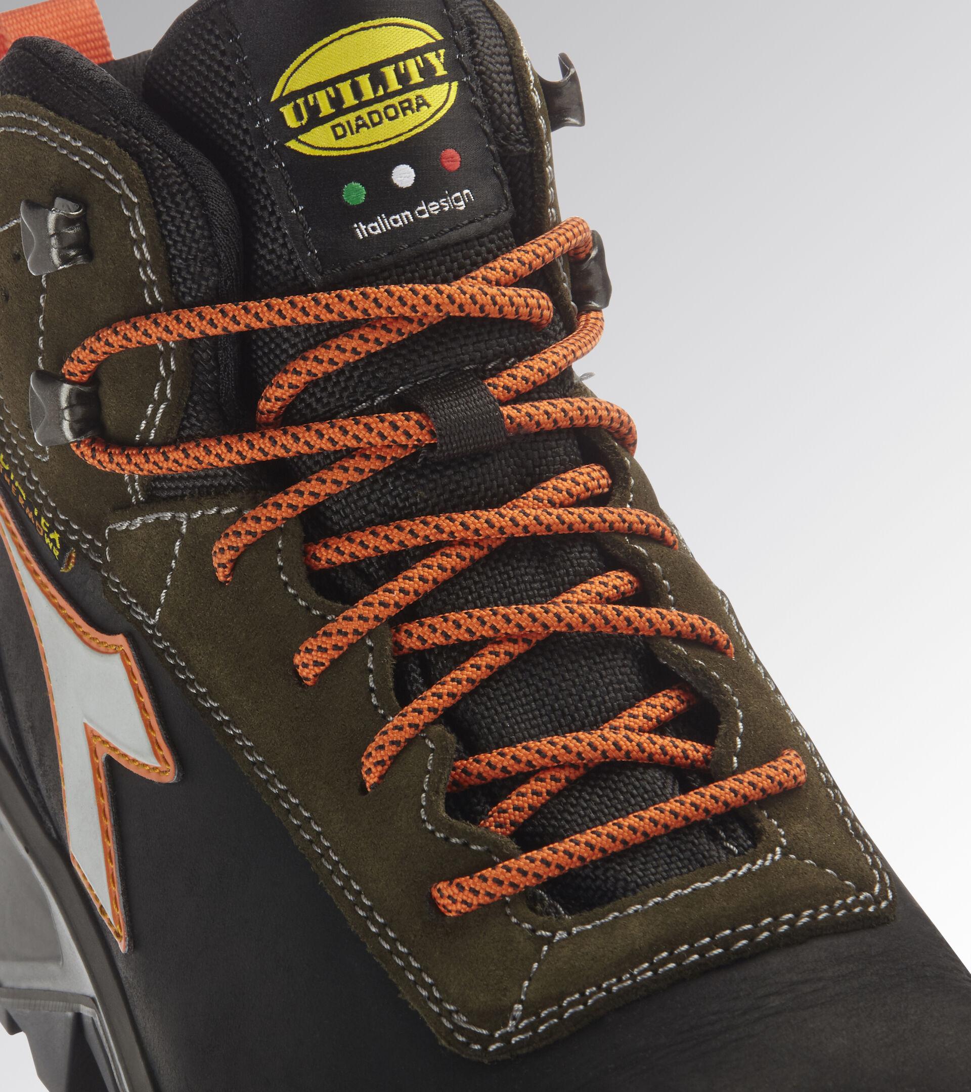 Footwear Utility UNISEX SPORT DIATEX MID S3 WR CI SRC BLACK/GREEN RAGE Utility
