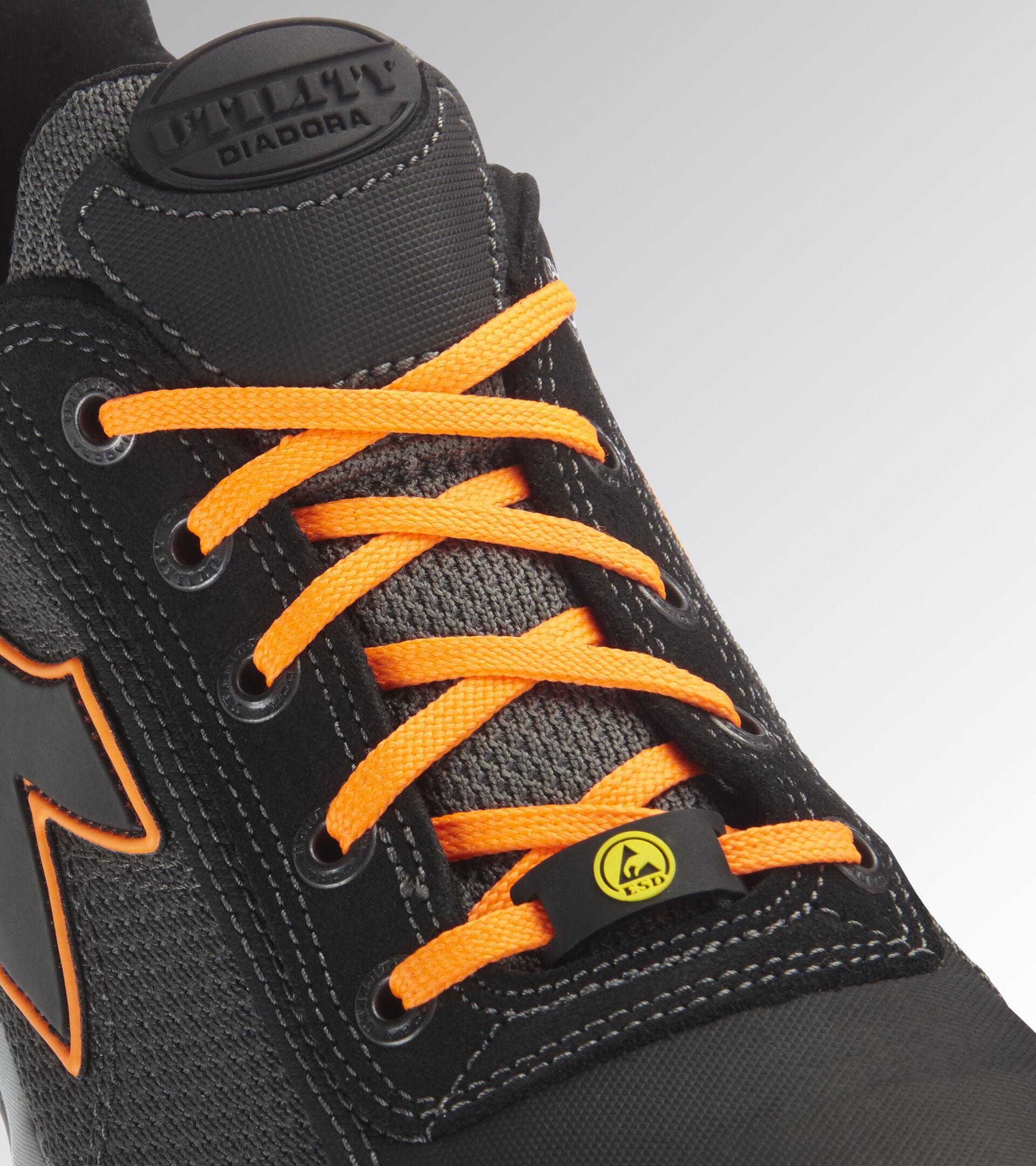 Footwear Utility UNISEX GLOVE NET LOW PRO S1P HRO SRA ESD ASPHALT/ORANGE FLUO Utility
