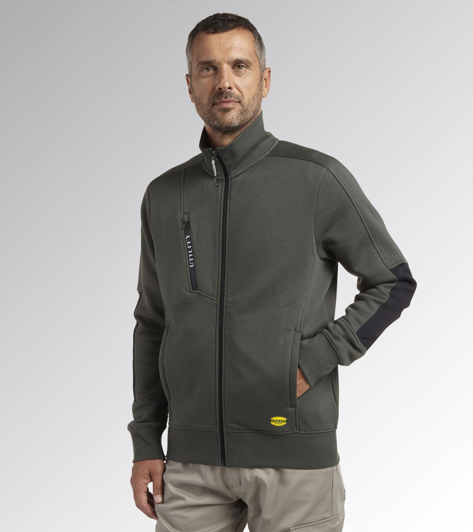 Work track jacket SWEATSHIRT FZ LITEWORK GREEN THYME - Utility