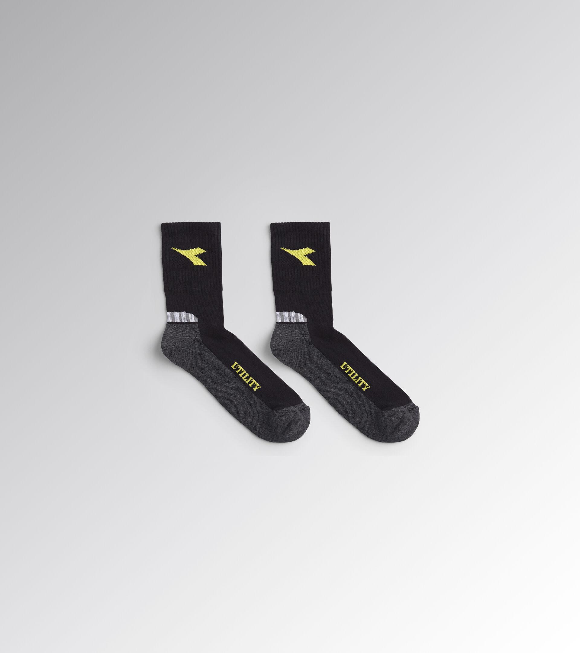 Accessories Utility UNISEX COTTON SUMMER SOCKS BLACK/DARK GULL GREY Utility
