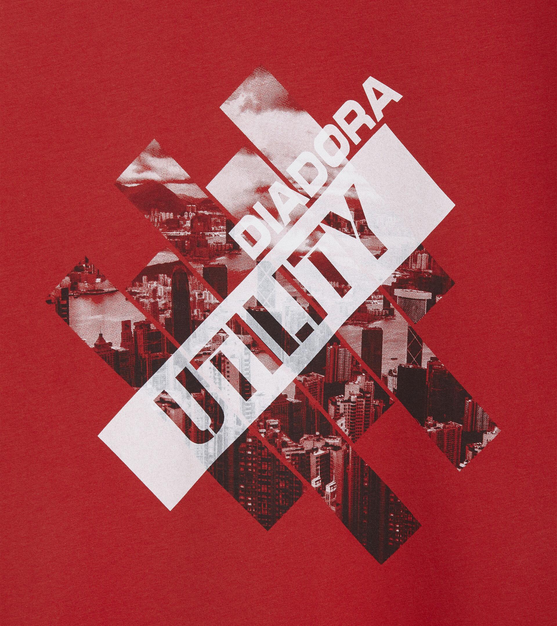 Apparel Utility UOMO T-SHIRT GRAPHIC ORGANIC TRUE RED Utility
