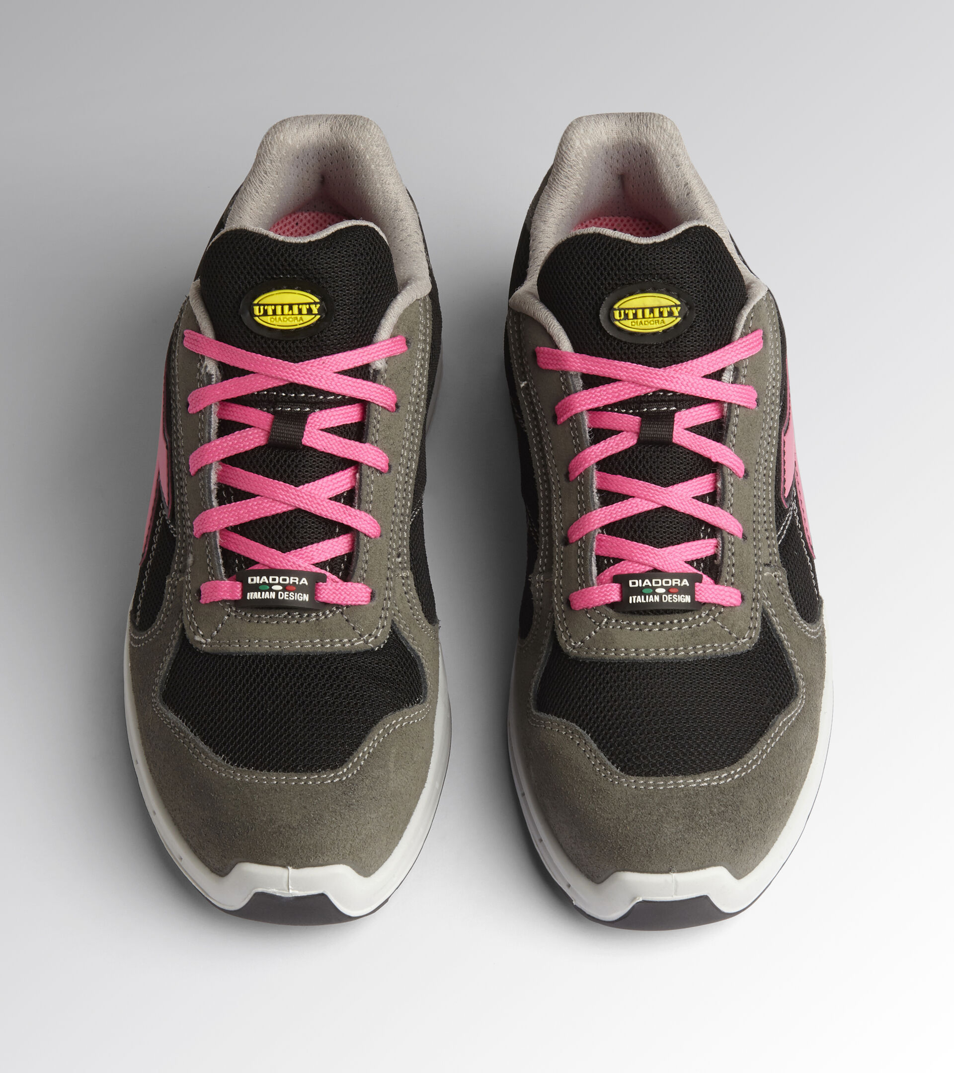 Footwear Utility UNISEX RUN NET AIRBOX LOW S1P SRC SMOKE/BLACK Utility