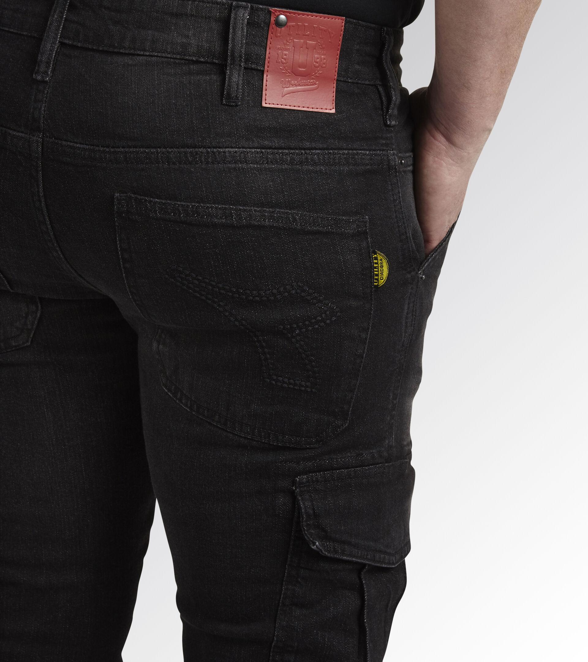 Apparel Utility UOMO PANT STONE CARGO NEW BLACK WASHING Utility