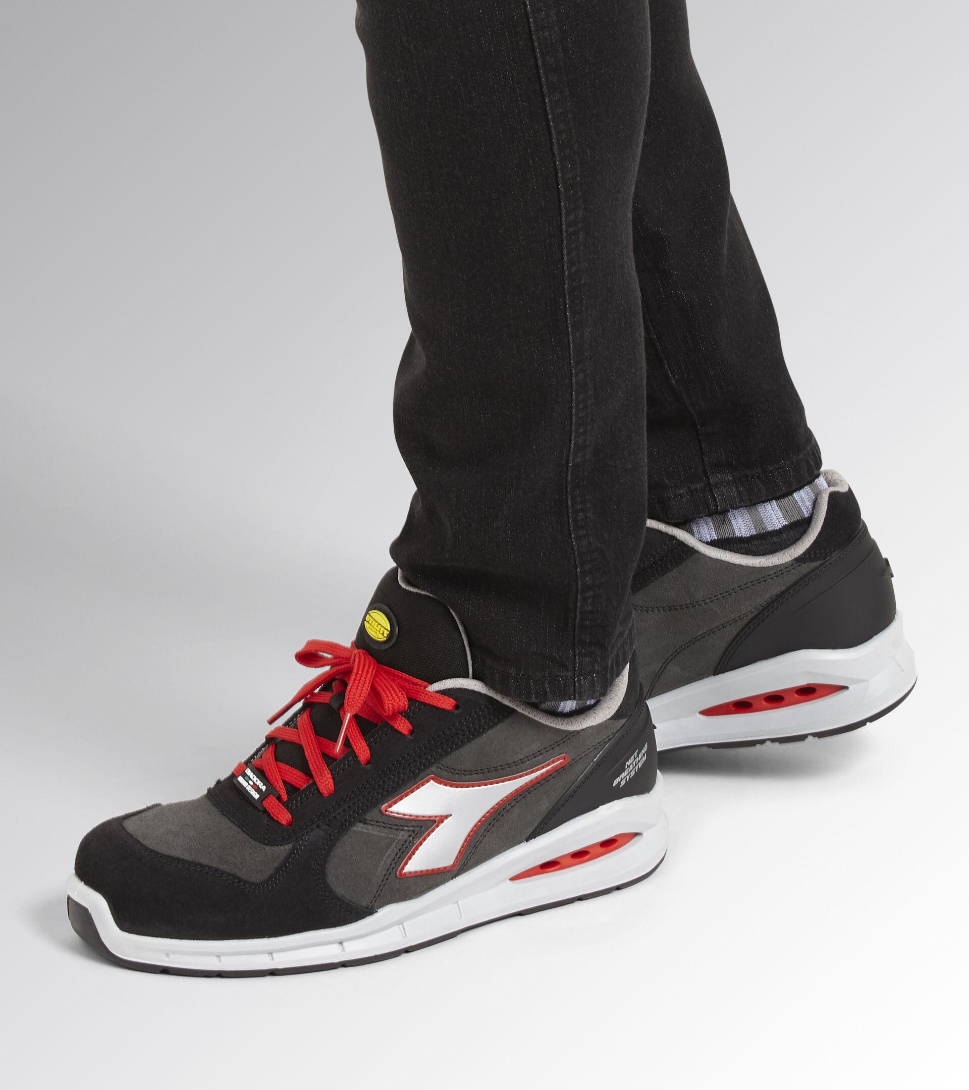 Footwear Utility UNISEX RUN NET AIRBOX LOW S3 SRC ASPHALT/SILVER/RED Utility