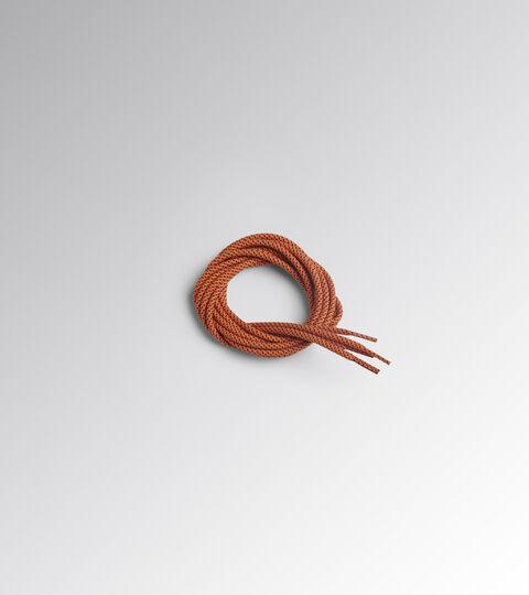Accessories Utility UOMO LACCI0 TONDO PUNTINATO TERMO 110 CM DARK ORANGE TIGER/BLACK Utility