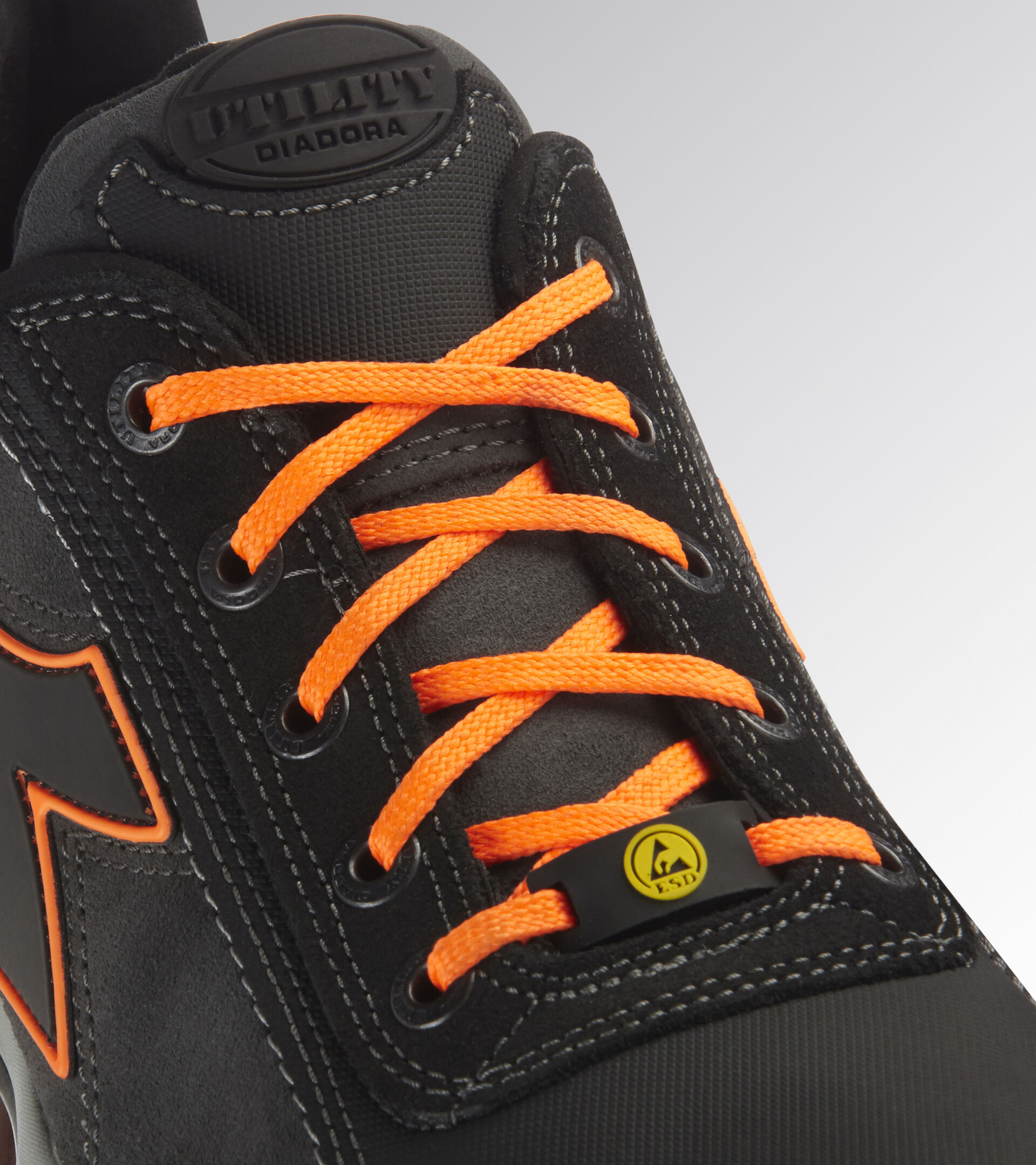 Footwear Utility UNISEX GLOVE NET LOW PRO S3 HRO SRA ESD ASPHALT/FLUORESZIEREND ORANGE Utility