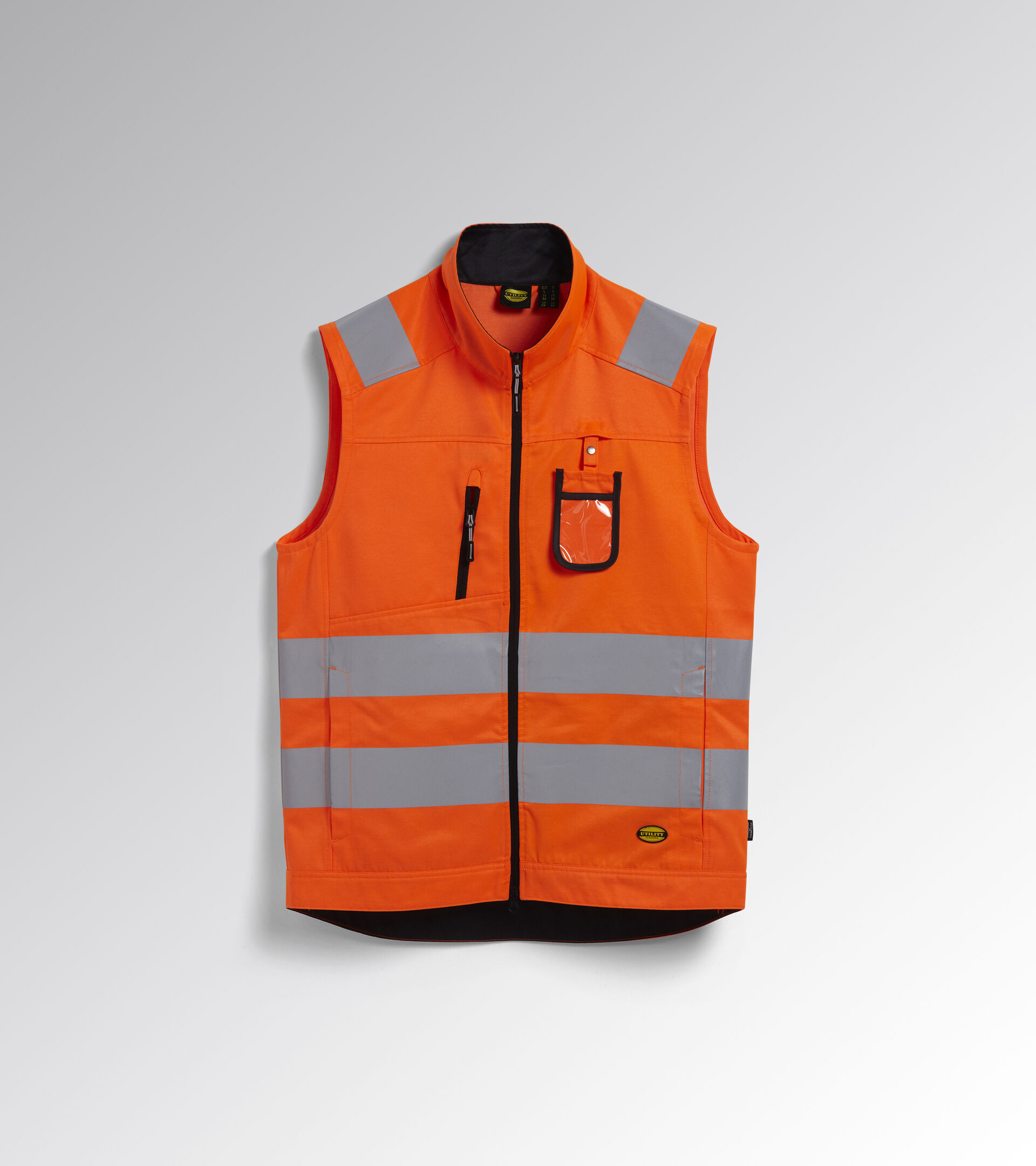 Apparel Utility UOMO HV VEST ISO 20471 FLUORESCENT ORANGE ISO20471 Utility