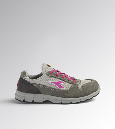 Footwear Utility UNISEX RUN G TEXTILE LOW S1P SRC CASTLEROCK/FUCHSIA RED Utility