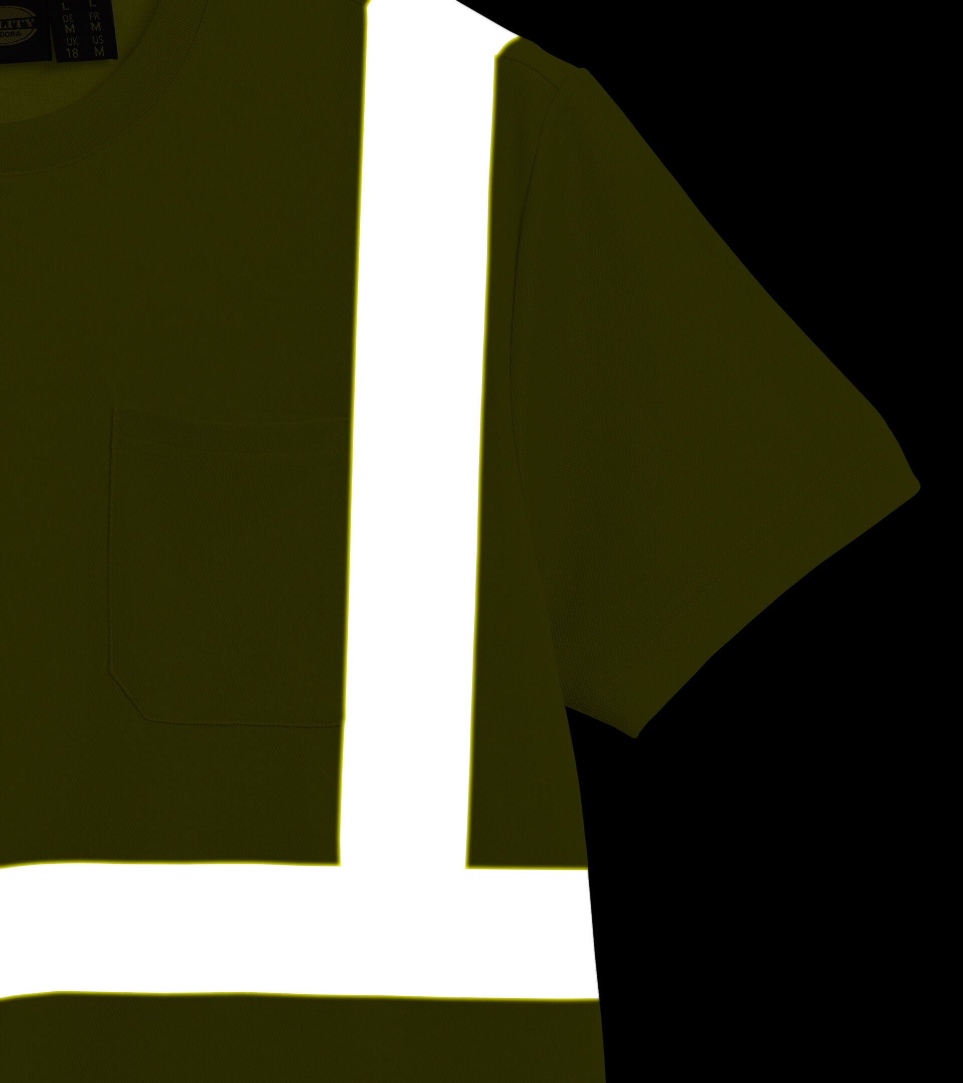 Apparel Utility UOMO T-SHIRT HV ISO 20471 FLUORESCENT YELLOW ISO20471 Utility