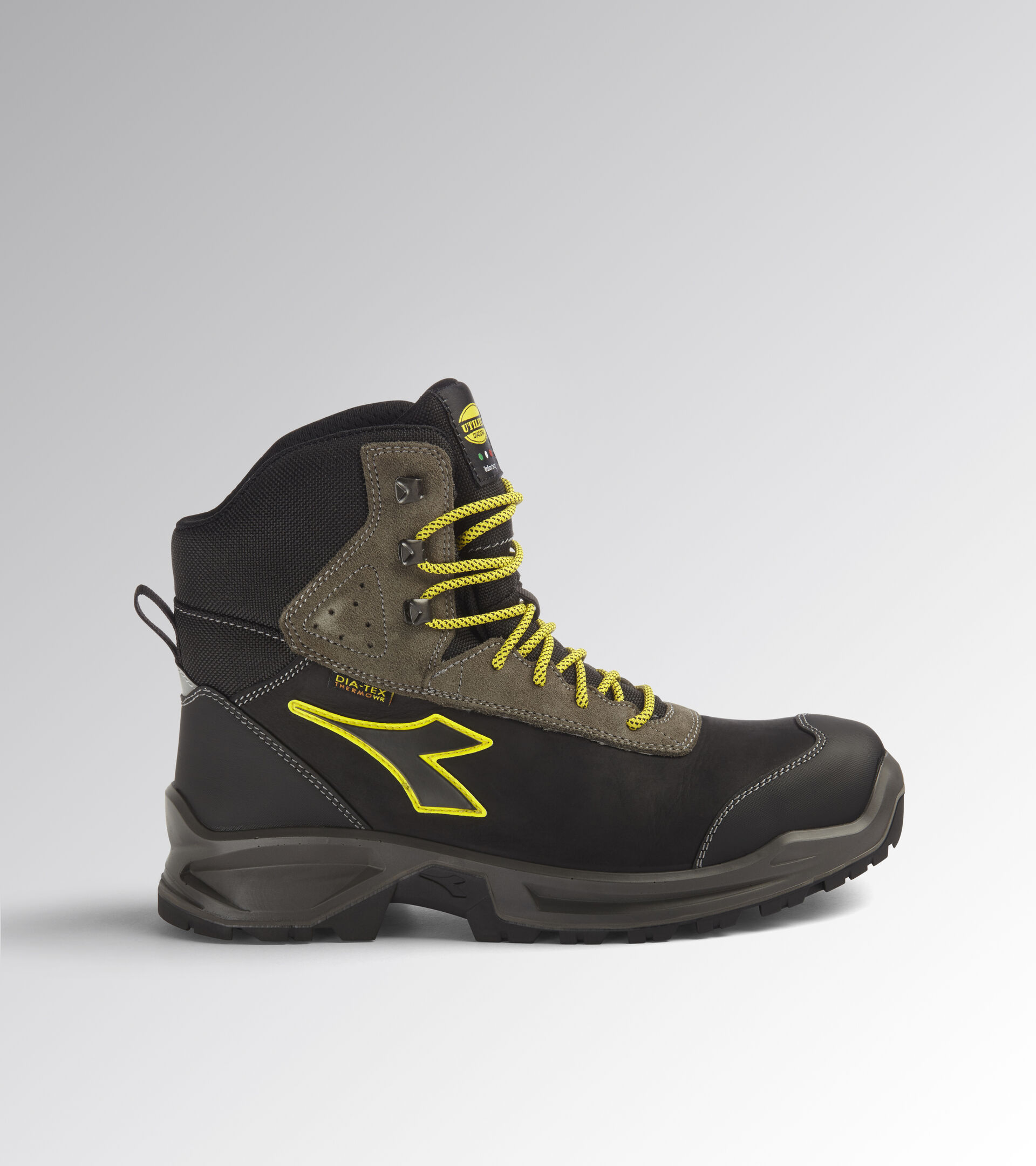 Footwear Utility UNISEX SPORT DIATEX HIGH S3 WR CI SRC BLACK/STEEL GRAY Utility