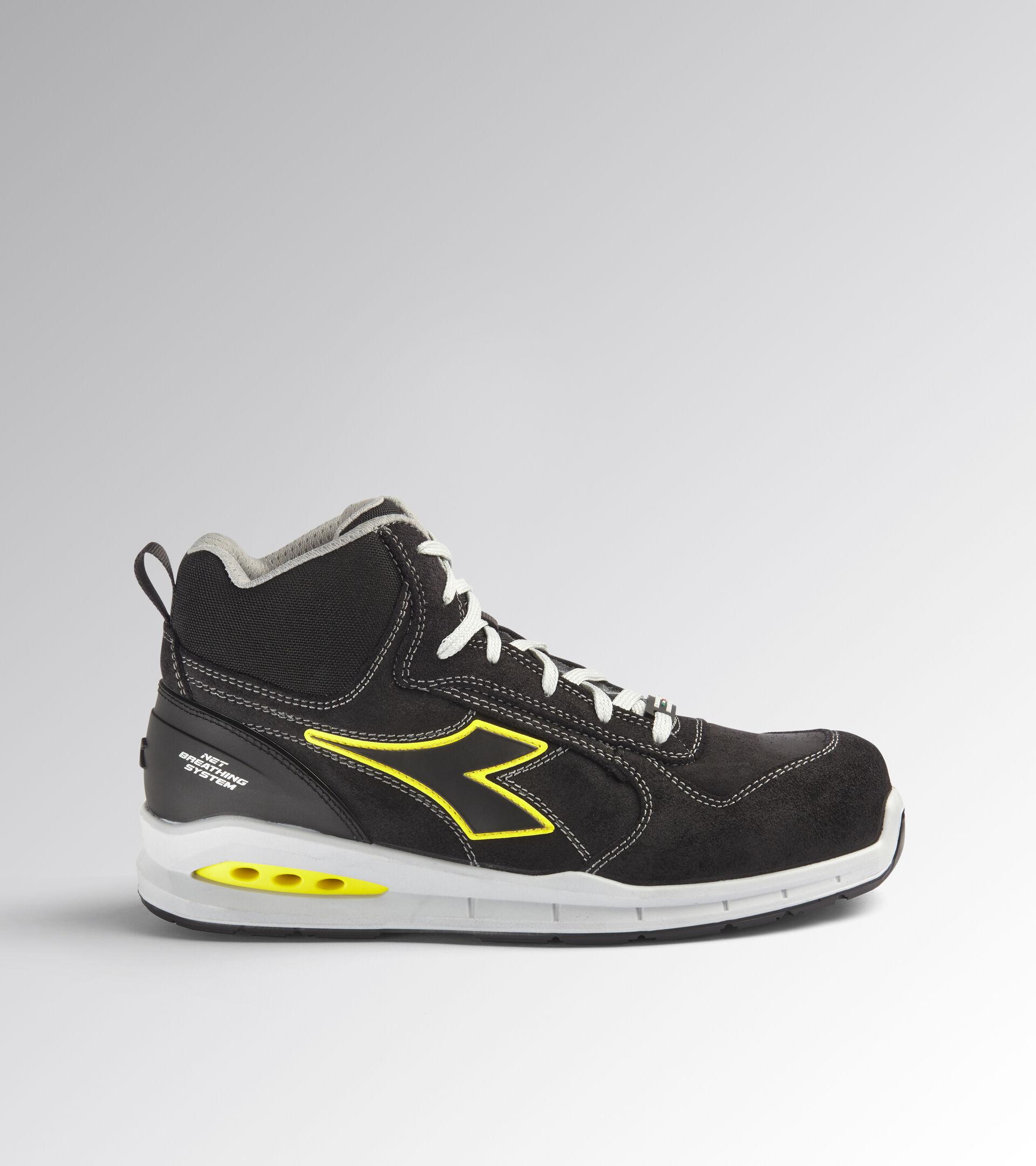 Footwear Utility UNISEX RUN NET AIRBOX MID S3 SRC BLACK /BLACK Utility